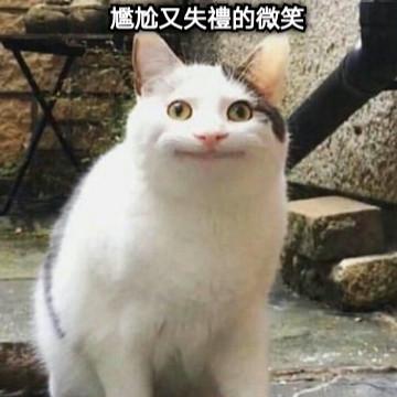 尷尬又失禮的微笑