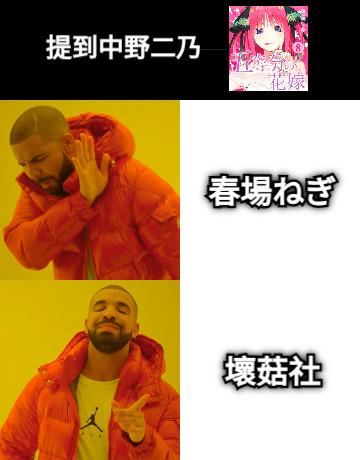 提到中野二乃 春場ねぎ 壞菇社