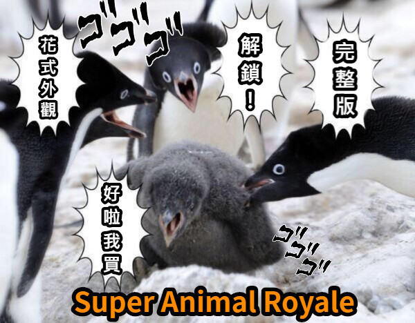 Super Animal Royale 花式外觀 完整版 解鎖! 好啦我買