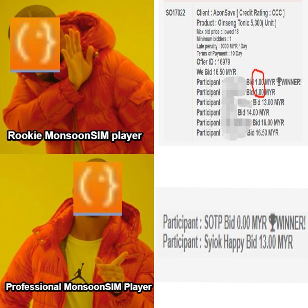 Rookie MonsoonSIM player Professional MonsoonSIM Player