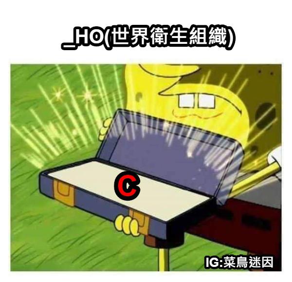 _HO(世界衛生組織) C IG:菜鳥迷因