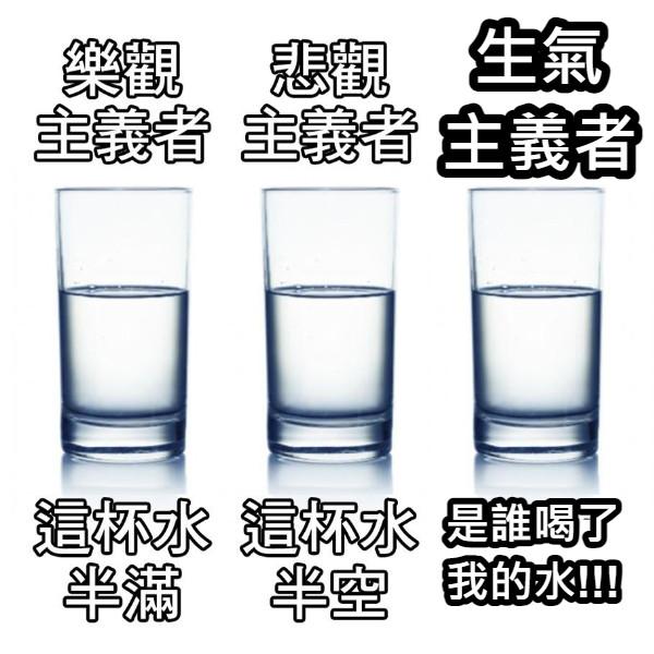 生氣 主義者 是誰喝了 我的水!!!